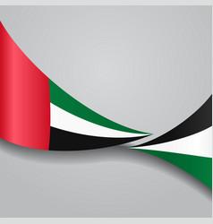 united arab emirates wavy flag vector image vector image