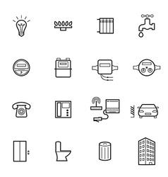 Utilities icons vector image