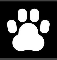 Animal footprint white color icon vector