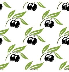 Black olives seamless pattern vector image vector image
