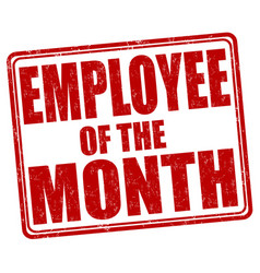 employee of the month stamp vector image