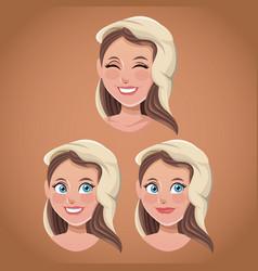 faces virgin mary spiritual vector image