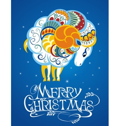 New year card with sheep vector image