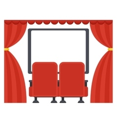 screen in movie theater vector image vector image