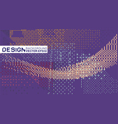 abstract halftone and dots texture futuristic vector image
