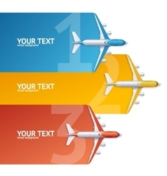 Airplane Travel Concept Option Banner vector