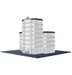 architecture design for tall building vector image