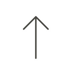 arrow up icon line upload symbol vector image