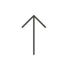 arrow up icon line upload symbol vector image