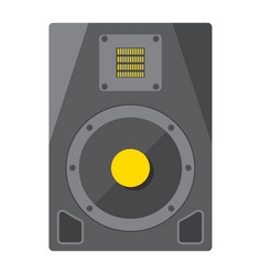 audio monitor flat icon music and instrument vector image
