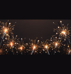 background with sparklers birthday party bengal vector image