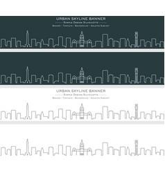 Baltimore single line skyline banner vector