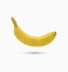Banana in polygonal style vector