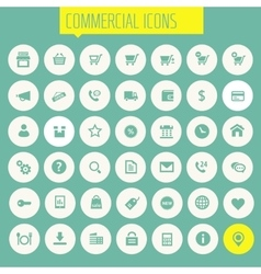 Big commercial icon set vector image