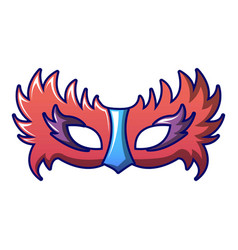 bird carnival mask icon cartoon style vector image