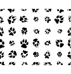 black trace dogs vector image