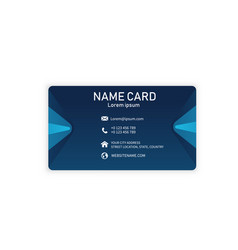 blue modern creative business name card ima vector image