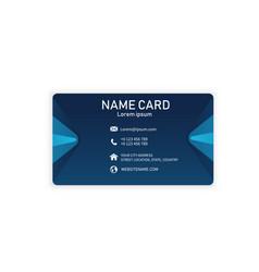 blue modern creative business name card ima vector image