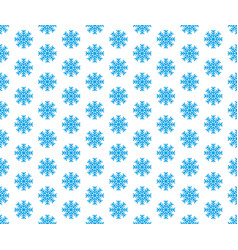 blue snowflake seamless pattern and vector image