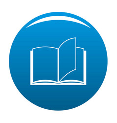 book page icon blue vector image