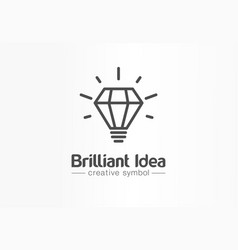 brilliant idea light bulb creative symbol concept vector image