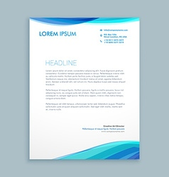 Business wave letterhead design vector