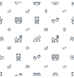 Child icons pattern seamless white background vector