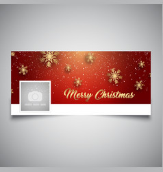 Christmas timeline cover design vector