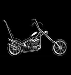 Classic american motorcycle on white background vector