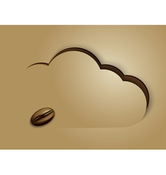 Coffee in clouds vector