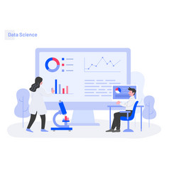 data science concept modern flat design concept vector image