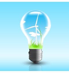 eco bulb vector image vector image