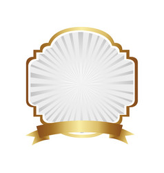 Emblem border ornamental with ribbon vector