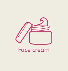 Face cream thin line icon vector