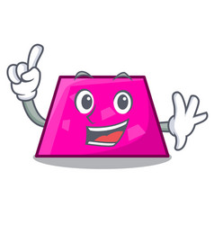 finger trapezoid mascot cartoon style vector image