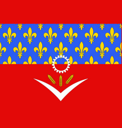 Flag of seine-saint-denis france vector