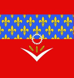 Flag seine-saint-denis france vector