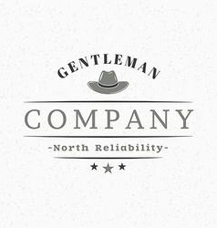 Gentleman Hat Vintage Retro Design Elements for vector