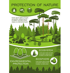 green nature protection poster for eco design vector image