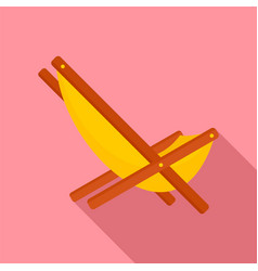hammock chair icon flat style vector image