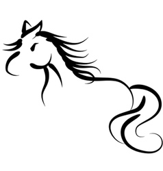 Hand drawing horse vector image