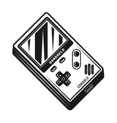 Handheld gaming console black vector