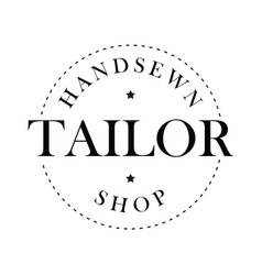 handsewn tailor shop stamp vector image