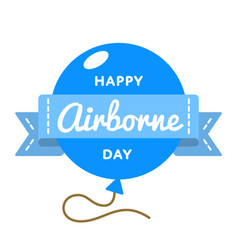 Happy airborne day greeting emblem vector