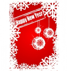 happy new year grunge vector image vector image