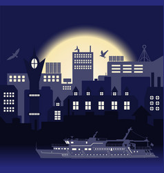 industrial european vintage styled city travel vector image