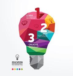 Infographic light bulb Design Conceptual Polygon vector