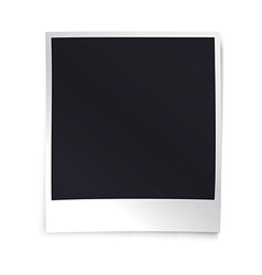 Instant blank photo template Empty photo frame vector image