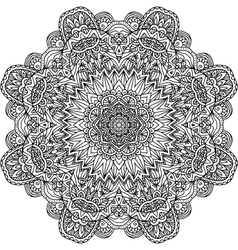 Lacy ornate black napkin vector image