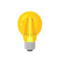 Led warm light lamp bulb colorful icon vector